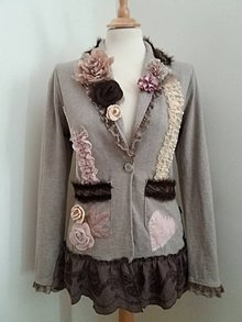 Kabáty - sako v jemných farbách - recyklácia - 9639745_