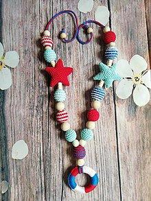 Detské doplnky - Modré more náhrdelník - 9641300_