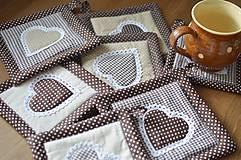 Úžitkový textil - Hnedé chňapky - 9640547_