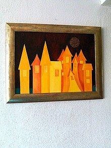 """Obrazy - """"nočné"""" mestečko... - 9641259_"""