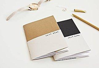 Papiernictvo - 2 zápisníky - Double kraft/black - 9641572_
