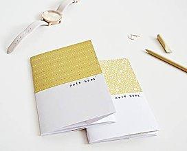 Papiernictvo - 2 zápisníky - Double/horčicová - 9641616_