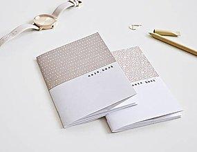 Papiernictvo - 2 zápisníky - Double/hnedosivá - 9641633_