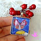 Náhrdelníky - Buď ako motýľ...motýlí medailónik - 9640958_