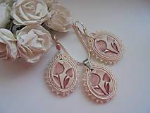 Sady šperkov - Soutache set Lilya - púdrovoružový  - 9640272_