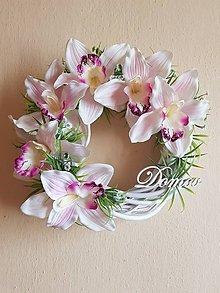 """Dekorácie - veniec s orchideami a nápisom """"Domov"""" - 9640085_"""
