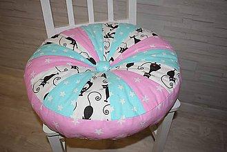 Textil - DĚTSKÝ PUF... kočky - 9641781_