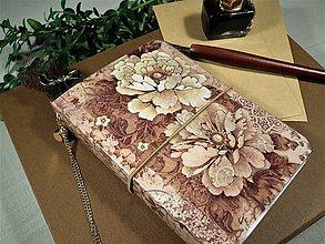 Papiernictvo - Vintage Roses zápisník NEPREDAJNÉ! - 9640326_