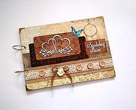 Papiernictvo - Fotoalbum svadobný * kniha hostí * album A4 - voliteľný nápis - 9640349_