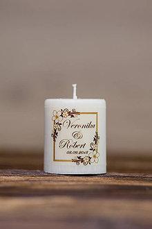 Darčeky pre svadobčanov - Menovka alebo darček pre svadobčanov - Sviečka - Vzor č.20 - 9641411_