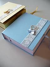 Krabičky - krabička na fotografie v pevnom obale - 9640634_