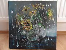 Obrazy - Kvety a daždivý deň - 9640711_