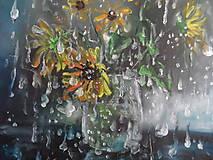 Obrazy - Kvety a daždivý deň - 9640712_