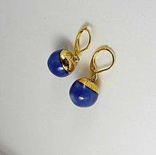 Náušnice - Tana šperky - keramika/zlato - 9640842_