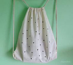 Batohy - obojstranný plátený batoh _ srdiečkový ♥ - 9641702_