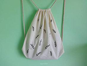 Batohy - plátený batoh _ lístky - 9641732_