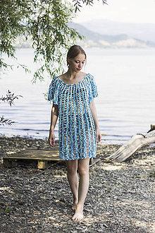 Šaty - Plážové šaty modré - 9639824_