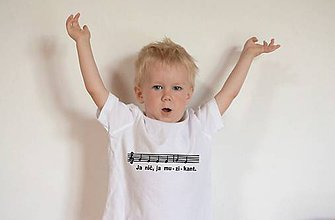 Detské oblečenie - tričko muzikant - 9641952_