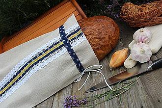 Úžitkový textil - Vrecúško na chlieb-folk - 9640703_