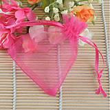 Obalový materiál - VO101 Organzové vrecúško 7 x 9 cm (krikľavo ružové) - 9640744_