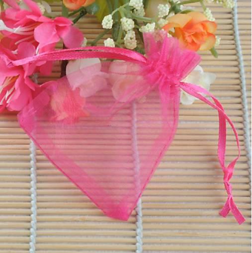VO101 Organzové vrecúško 7 x 9 cm (krikľavo ružové)