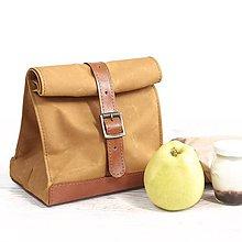Iné tašky - Lunchbag. Žltá taška na jedlo - 9641318_