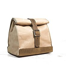 Iné tašky - Lunchbag. Svetlá taška na jedlo - 9641418_