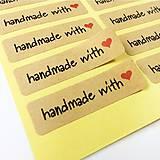 Papier - Nálepky Handmade with love 10 ks - 9639705_
