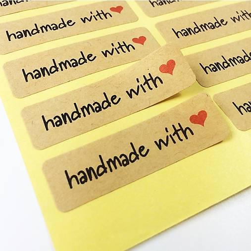 Nálepky Handmade with love 10 ks