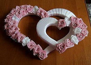 Dekorácie - svadobné srdcia - 9641747_