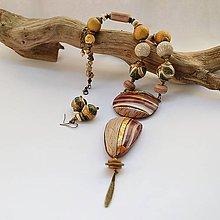 Sady šperkov - Náhrdelník a náušnice Afro II - 9641903_