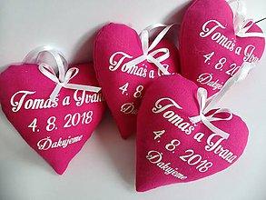Darčeky pre svadobčanov - Svadobné levanduľové srdiečka - 9641662_