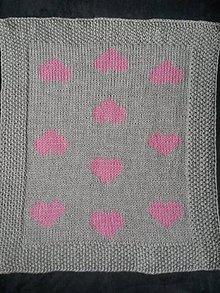 Textil - Deka-vyšívané srdiečka - 9644160_