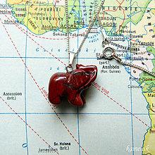 Náhrdelníky - Slon - jaspis brekciový - na stříbrném řetízku - 9642487_
