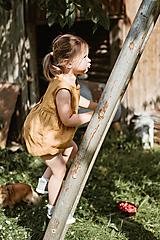Detské oblečenie - BEKY overal krátky (18-24 m - Žltá) - 9642990_