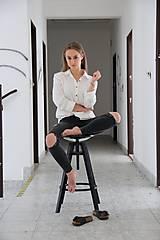 Košele - Simonka ľanová košeľa biela - 9644218_