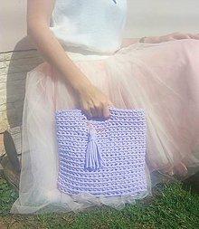 Nákupné tašky - LOVE bag -lila - 9643455_