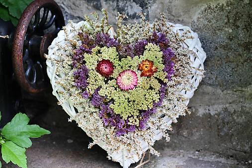 Srdiečko zo sušených kvetín