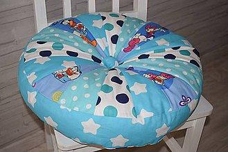 Textil - DĚTSKÝ PUF... modrý - 9642331_