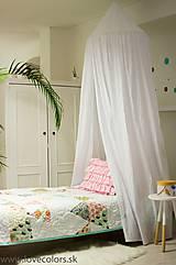 Úžitkový textil - Biely baldachýn 250cm - 9644807_