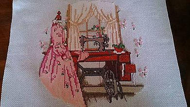 Obrázky - Antické šaty - krížikové vyšívanie - 9642019_