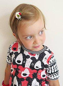 Detské oblečenie - tričko z biobavlny Tlupa medveďov (koralové) - 9644945_