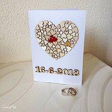 Papiernictvo - Srdiečkový telegram - doplnok k srdiečkovému srdcu (S dátumom) - 9643942_