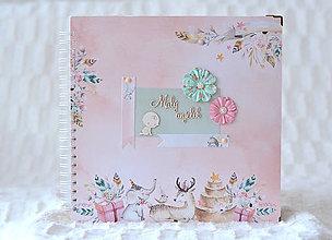 Papiernictvo - Detský fotoalbum - dievčenský (so zvieratkami) - 9644537_