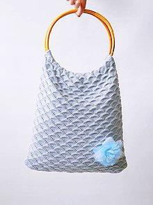 Nákupné tašky - pletená taška - 9644259_