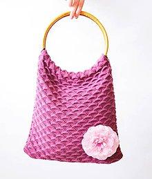 Nákupné tašky - pletená taška - 9644291_