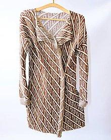 Kabáty - Pletený kabátik - 9644710_