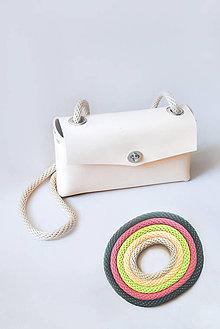 Kabelky - Kožená kabelka COLOR CORD (nastaviteľný popruh) - 9643740_
