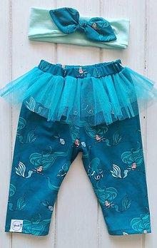Detské oblečenie - Baletkové kraťasy morské panny - 9644792_