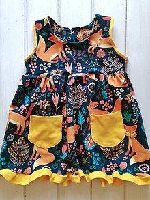Detské oblečenie - Líštičkové šaty - 9644820_